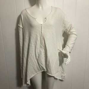 Truly Madly Deeply Ivory V-Neck Tunic Sweater